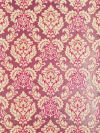 Papier peint vintage damassé rouge brun