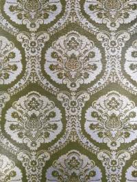 Groen zilver medaillon vintage behang