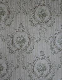 Beige green classic vintage wallpaper