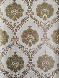 Groen gouden medaillon vintage behang