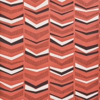 Miss Print wallpaper Chevron Berry