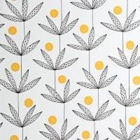 Miss Print wallpaper Palm Tree black and yellow