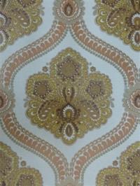 bruin rood medaillon behang