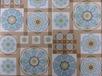 bruin blauwe bloemen