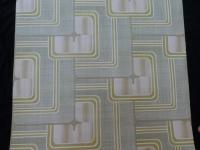 groen geometrisch vintage behang