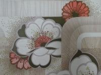 vintage floral wallpaper beige red