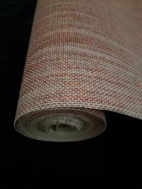 Papier peint textile rouge