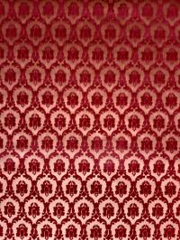 Fluweel behang klein bordeaux medaillon