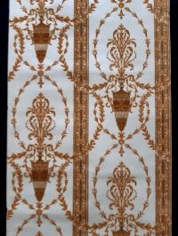 Papier peint velours avec amphores bruns