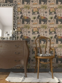 The elephants procession wallpaper