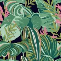 Luxebehang Tropisch gebladerte