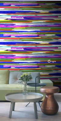 mural painted stripes - Origin