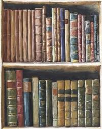 Boekenkast behangpapier