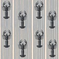Luxebehang met kreeften op een grijze achtergrond