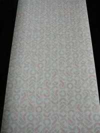 pink grey beige geometric figures in lines