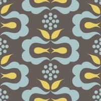 zwart blauw geel geometrische figuren