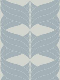 blauwe geometrische figuur op een lichtgrijze achtergrond