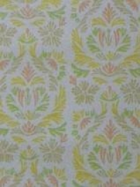 yellow pink green medallion in 4 lines
