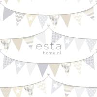ESTA wallpapar flags beige grey