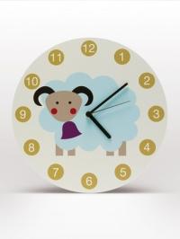 horloge mural enfants mouton blanc