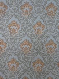 oranje grijs medaillon vintage behang