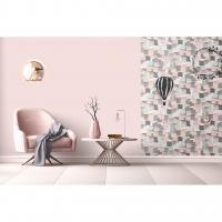 Afwasbaar post-it behang roze