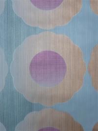 paars beige bloemen op een blauwe achtergrond - blinkend effect