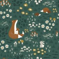 papier peint Lilipinso animaux de la forêt
