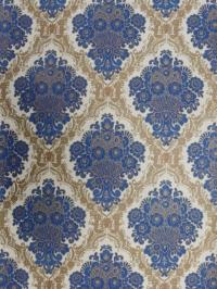 blue beige damask wallpaper