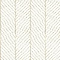 ESTA behang wit goud visgraatmotief