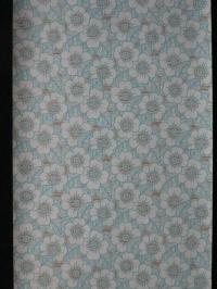 Vintage bloemenbehang met blauw en bruine bloemen