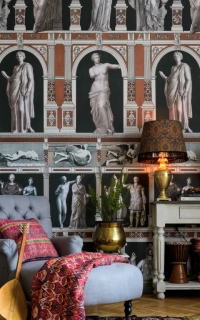 Luxebehang Statues Antique Taupe
