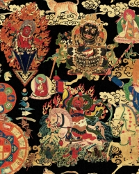 Luxebehang Dragons of Tibet