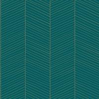 Papier peint turquoise et or