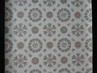 Papier peint vintage fleurs gris taupe