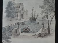 Vintage behang Italiaanse haven