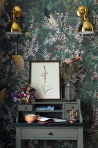 Papier peint de luxe Jardin Royale grey