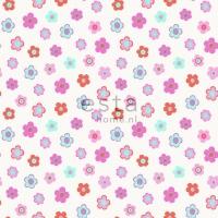 papier peint ESTA petites fleurs rose bleu