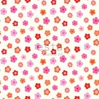 papier peint ESTA petites fleurs rose orange