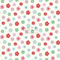 ESTA wallpapar little flowers red green