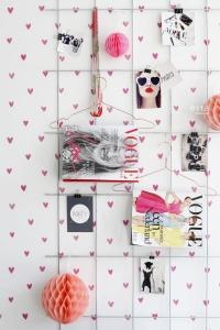 ESTA behang roze hartjes