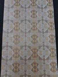 papier peint vintage figure géometrique brun