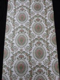 groen rood medaillon behang