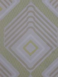 papier peint vintage geometrique vert beige