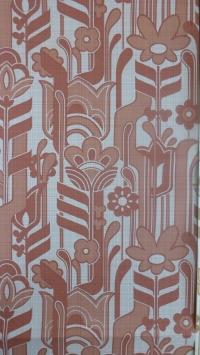vintage bloemenbehang rood