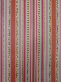 oranje roze geometrisch vintage behang