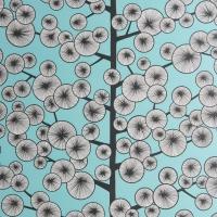Miss Print behang Dandelion cotton tree blauw
