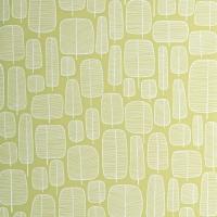 Miss Print behang Little wit op groen