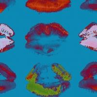 Luxebehang Neon kiss Blue