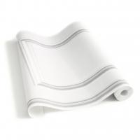 Witte lambrisering behang
